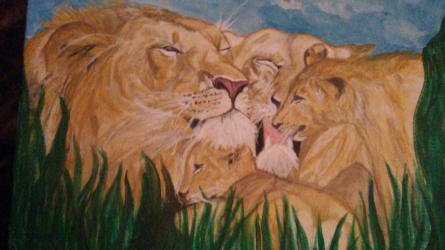 Barbara faddis $250 The lions den  Catalog# 510 Copyright (c) Barbara Faddis 2016