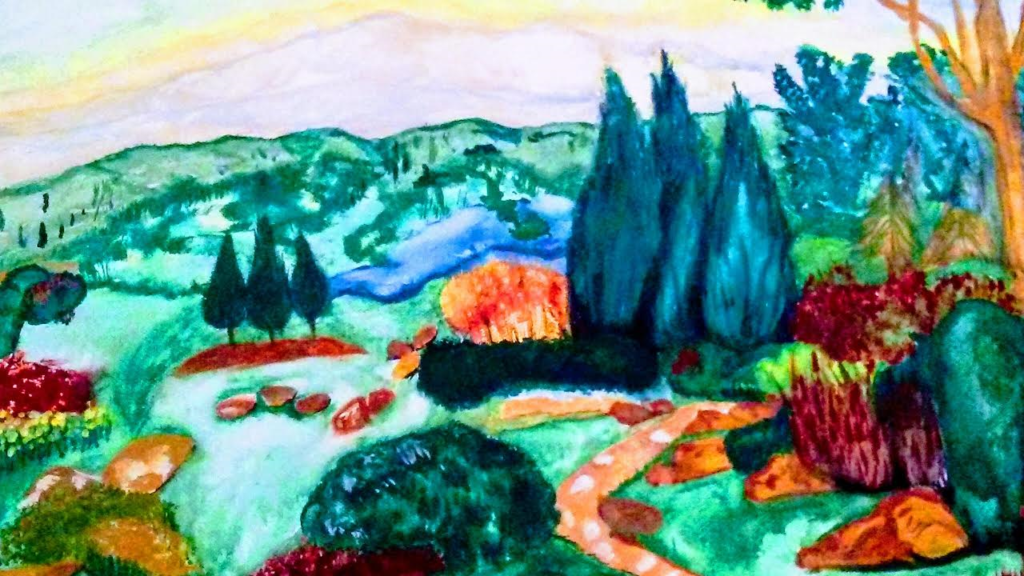 Barbara Faddis Peaceful Valley Catalog #508  $200 acrylic on canvas 16x20. Copyright (c) Barbara Faddis 2016